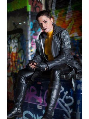 Ellie Phimister Leather Trench Coat