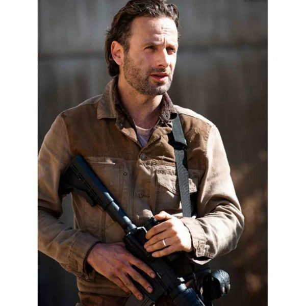 Rick Grimes The Walking Dead Jacket Season 4-0