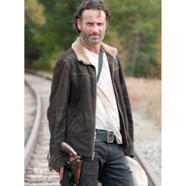 The Walking Dead Rick Grimes Fur Collar Jacket