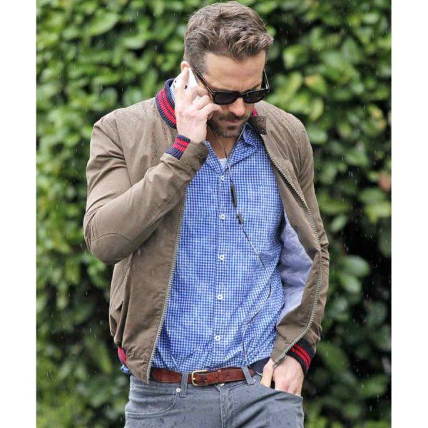 The Age of Adaline Film Ryan Reynolds Brown Jacket-0