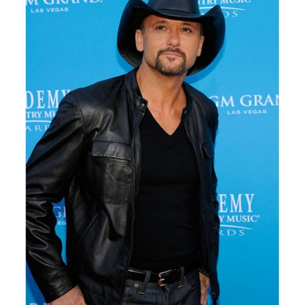 Black Tim Mcgraw Southern Voice Jacket