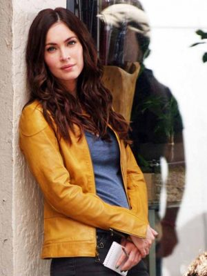 Teenage Mutant Ninja Turtles Megan Fox Yellow Leather Jacket-0