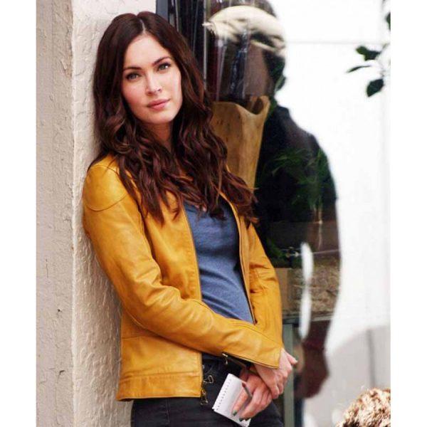 Teenage Mutant Ninja Turtles Megan Fox Yellow Leather Jacket-0