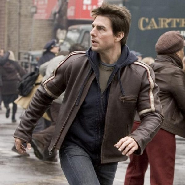War of The Worlds Tom Cruise Brown Distressed Jacket