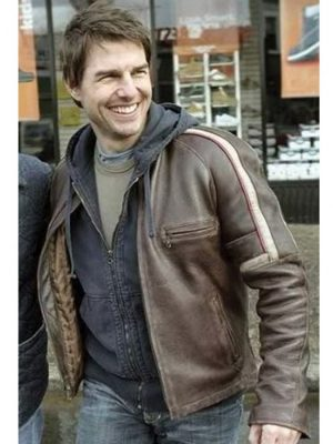 Tom Cruise Leather Jacket War of The Worlds-0