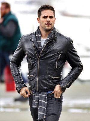 Brant Daugherty Black Leather Jacket-0