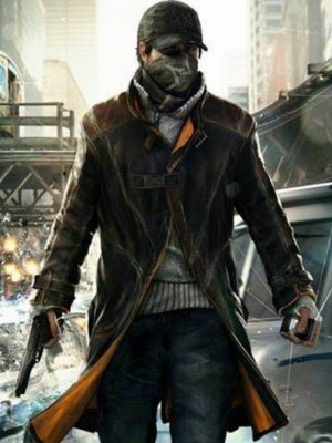 Aiden Pearce Watch Dogs Brown Leather Jacket