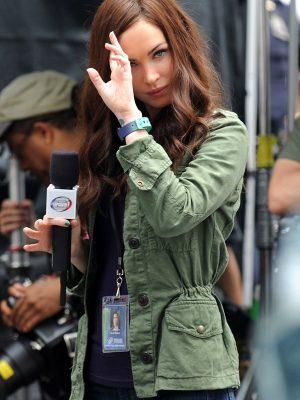 Green Cotton Jacket Megan Fox TMNT 2 -0