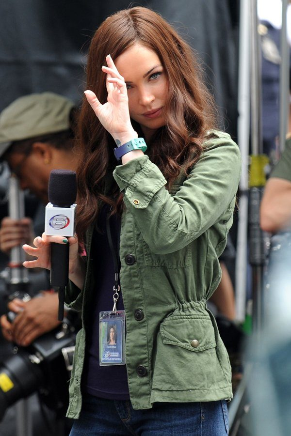Green Cotton Jacket Megan Fox TMNT 2 -0