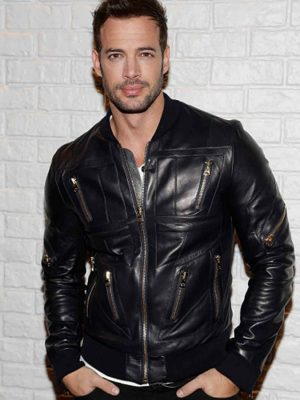 William Levy Black Leather Jacket-0
