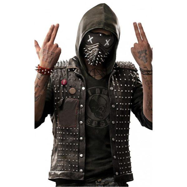 Watch Dogs 2 Black Studded Leather Vest
