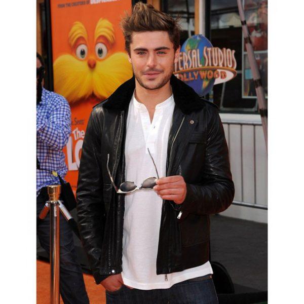 Zac Efron Black Fur Color Jacket