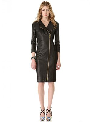 Ashley Roberts Black Leather Dress for Ladies