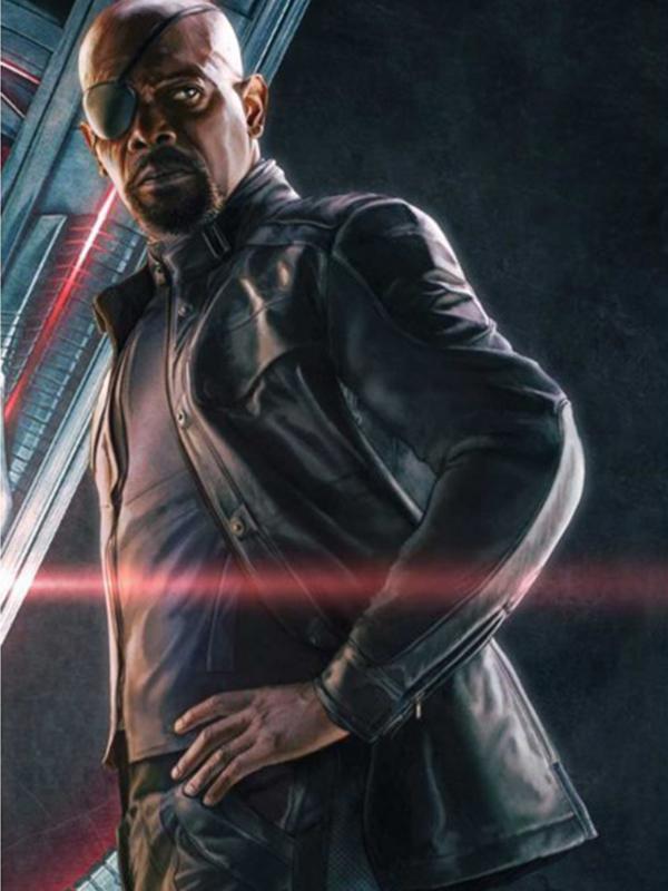 Samuel L Jackson Black Leather Jacket