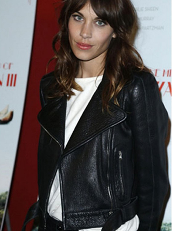 Alexa Chung Leather Jacket for Womens