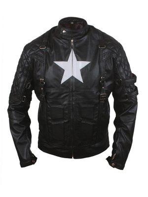 American Captain Avenge 5 Style Biker Leather Jacket