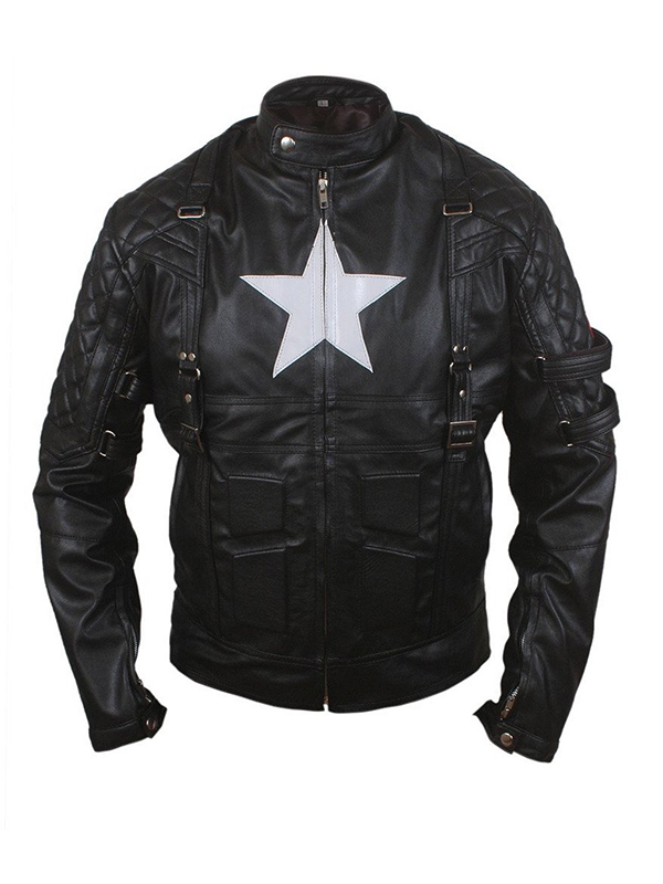 American Captain Avenge 5 Style Biker Leather Jacket