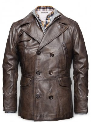 Inglourious Basterds Brad Pitt Brown Leather Jacket