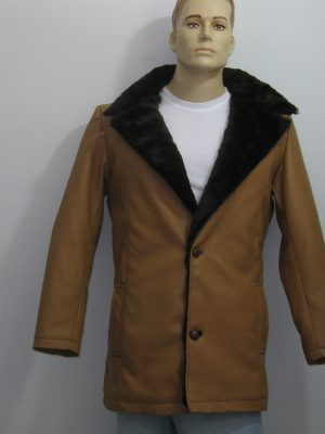 Wolverine Brown Shearling Leather Coat