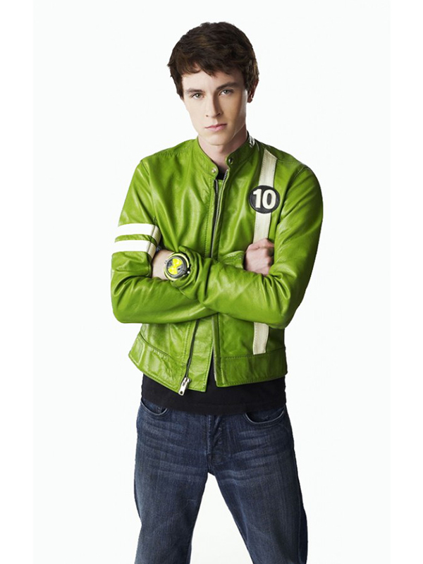 Ben 10 Alien Swarm Green Leather Jacket