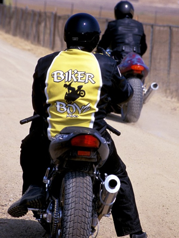Biker Boyz Yellow Motorcycle Leather Jacket
