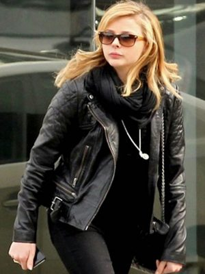 Chloe Moretz Leather Jacket