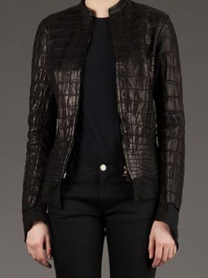 Affamee Alligator Leather Jacket-0