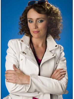 Keeley Hawes Ashes To Ashes White Leather Jacket