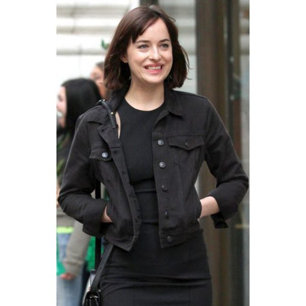 Dakota Johnson How To Be Single Alice Denim Jacket-0