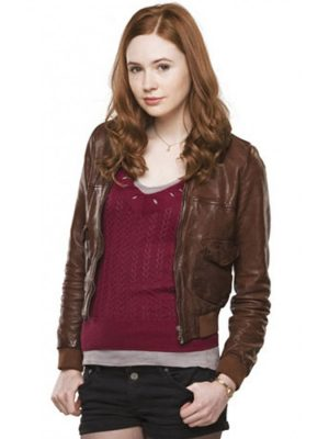 Doctor Who Amy Pond Brown Jacket-0