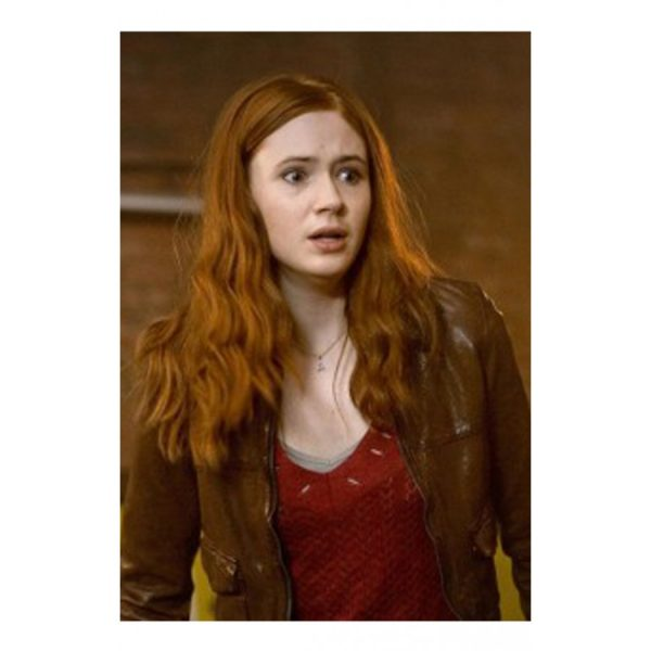 Doctor Who Amy Pond Leather Jacket