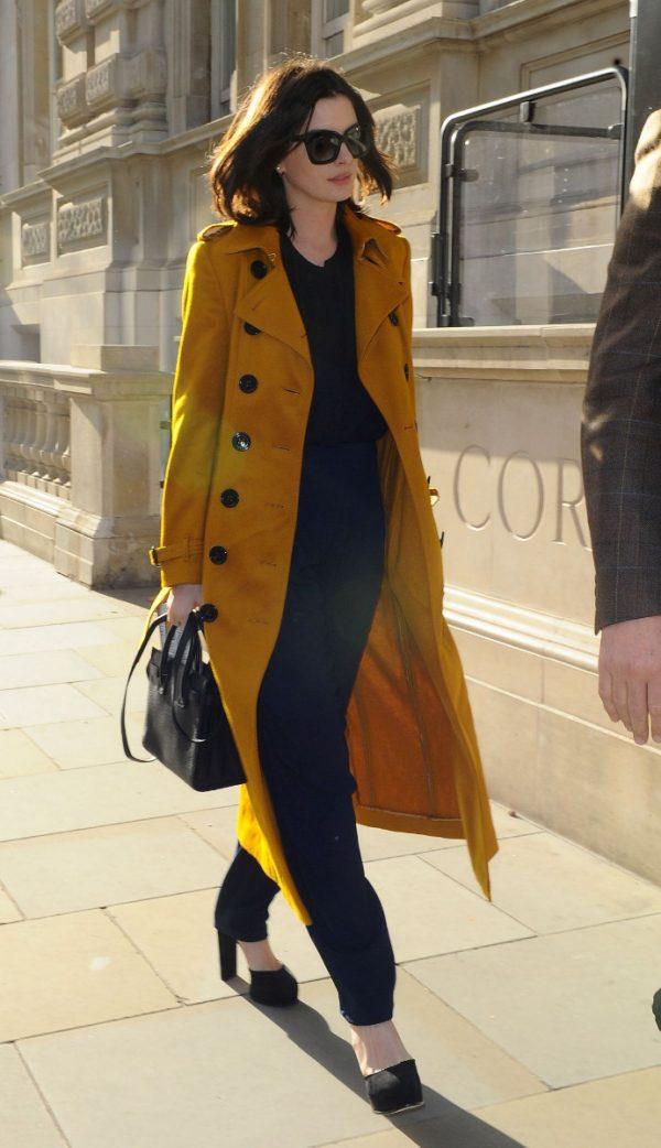 Anne Hathaway Landon Trench Coat