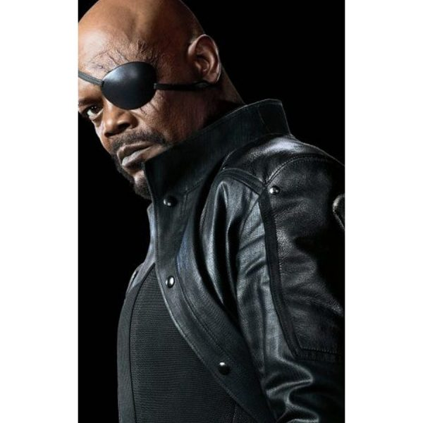 Samuel L Jackson Black Leather Jacket