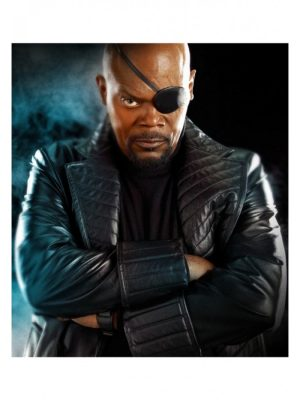 The Avengers Movie Nick Fury Trench Coat-0