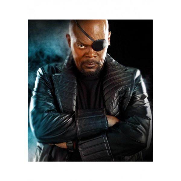 The Avengers Movie Nick Fury Trench Coat-0