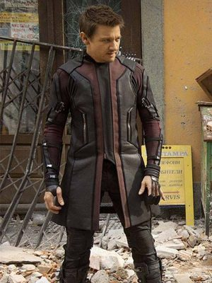 Jeremy Renner The Avengers Age of Ultron Hawkeye Coat-0