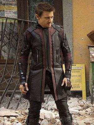 Jeremy Renner The Avengers Age of Ultron Hawkeye Coat-0
