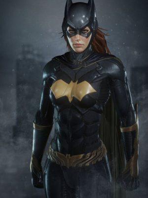 Batman Arkham Knight BatGirl Leather Jacket-0