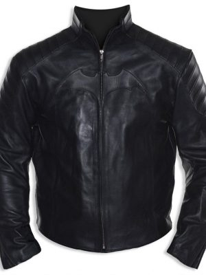 Christian Bale Black Leather Jacket