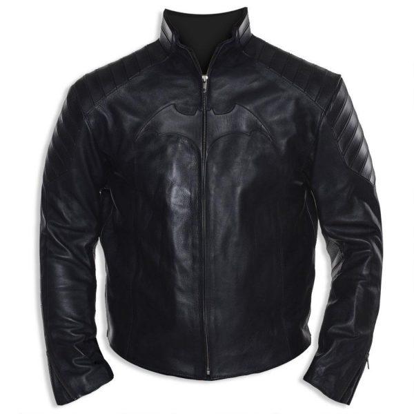 Christian Bale Black Leather Jacket