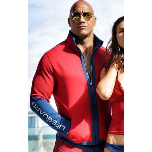 Dwayne Johnson Baywatch Leather Jacket