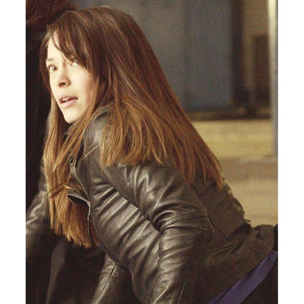 Kristin Kreuk Leather Jacket