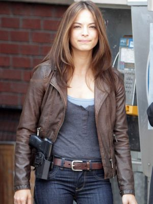 Beauty And The Beast TV Series Kristin Kreuk Leather Jacket-0