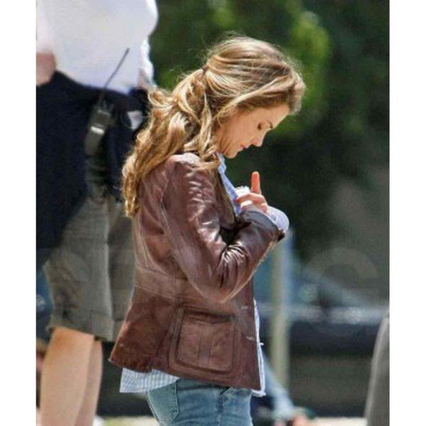 Brown Keri Russel Leather Jacket
