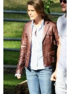 Keri Russell Bedtime Stories Brown Jacket