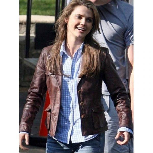 Bedtime Stories Keri Russell Leather Jacket-0