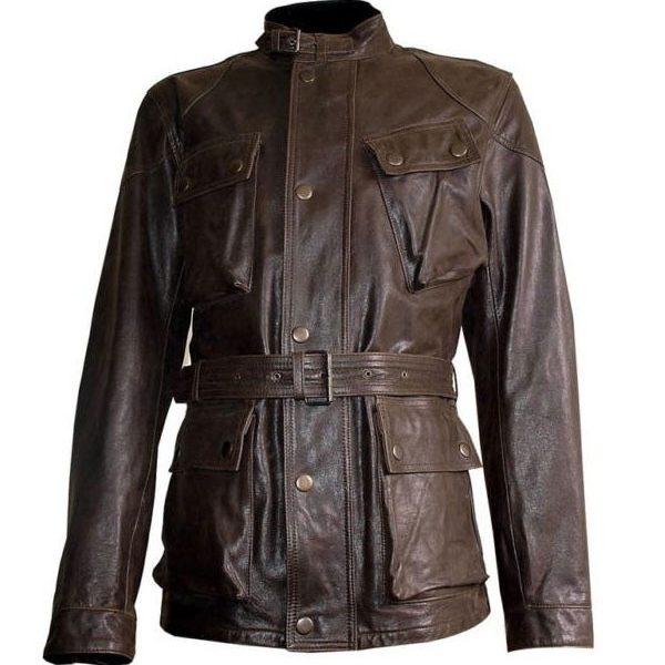 Brad Pitt Brown Leather Jacket