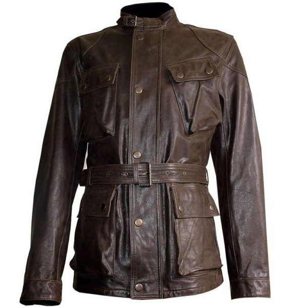 Brad Pitt Brown Leather Jacket
