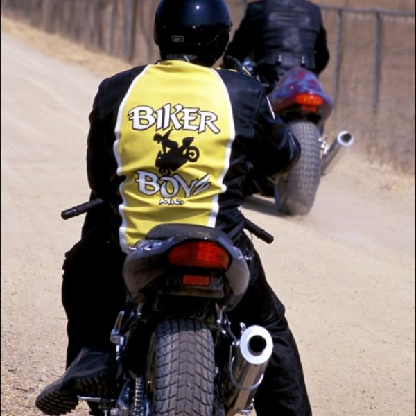 Biker Boyz Yellow Motorcycle Leather Jacket-0
