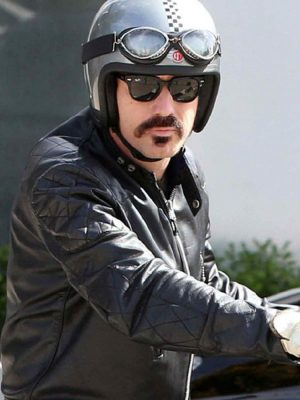 Ewan Mcgregor Quilted Leather Jacket